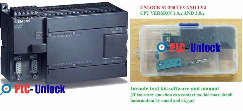 Unlock S7-200 SIEMENS PLC CPU's 222_224_226 _XP_CN all