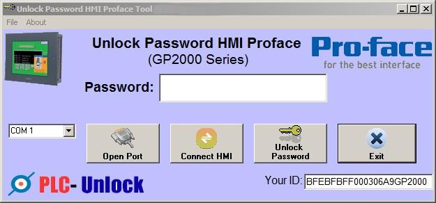 Crack to Password HMI Proface GP4000_GP3000_GP2000 by GP