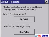 Backup and Restore Siemens HMI on WinCC Flexible 2008 SP5