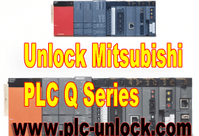 Unlock password for Mitsubishi Q series PLC